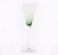 Green Trumpet Champagne Glass