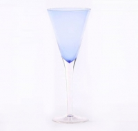 Blue Trumpet Champagne Glass