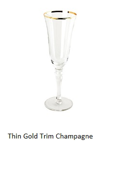 champagne glass gold rim