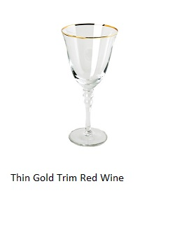 Thin Gold Rim Red Wine Glasses