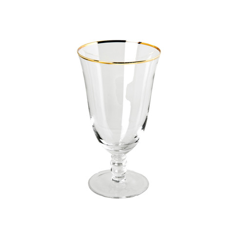 Thin Gold Rim Water Glasses