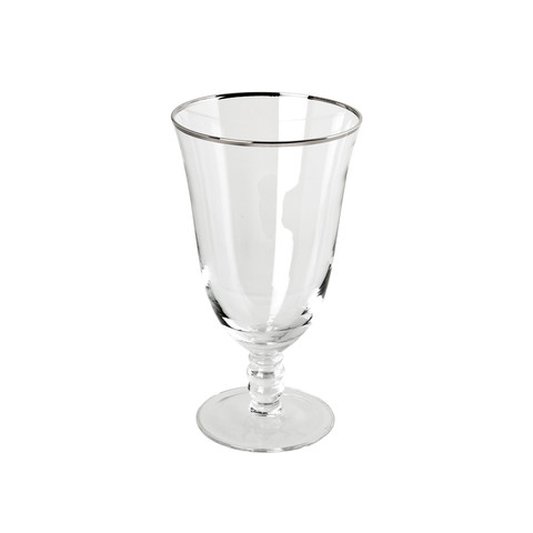 Thin Silver Rim Water Glass