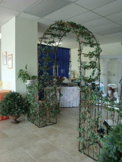 Wrought Iron Arch with Greenery
